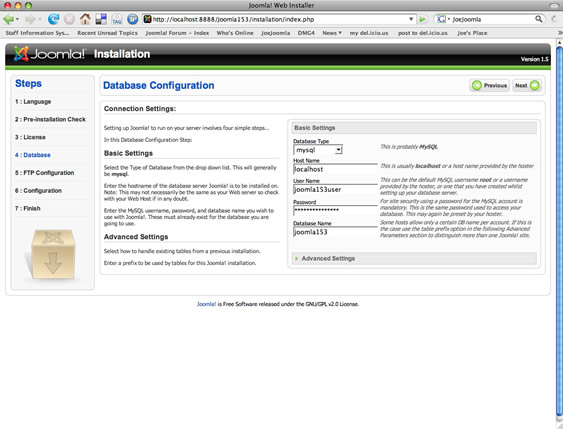 Step 4: Database Configuration